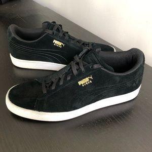 Puma Men's Suede Classic Sneaker Black Size 10